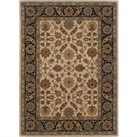 Hawthorne Collection 5' x 7' Area Rug in Ivory and Black - image 1 of 1