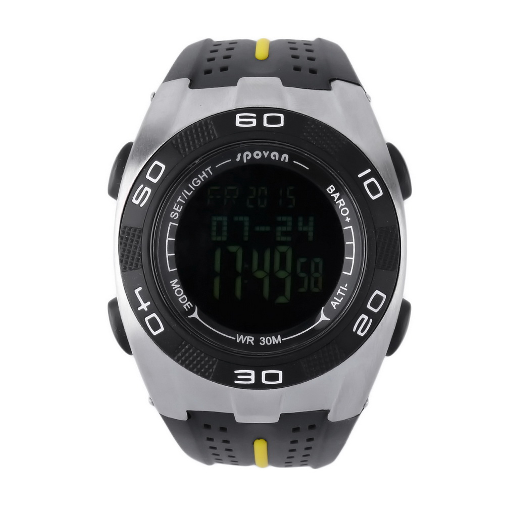 Black & White Multifunction Outdoor Sports Altimeter Ther...