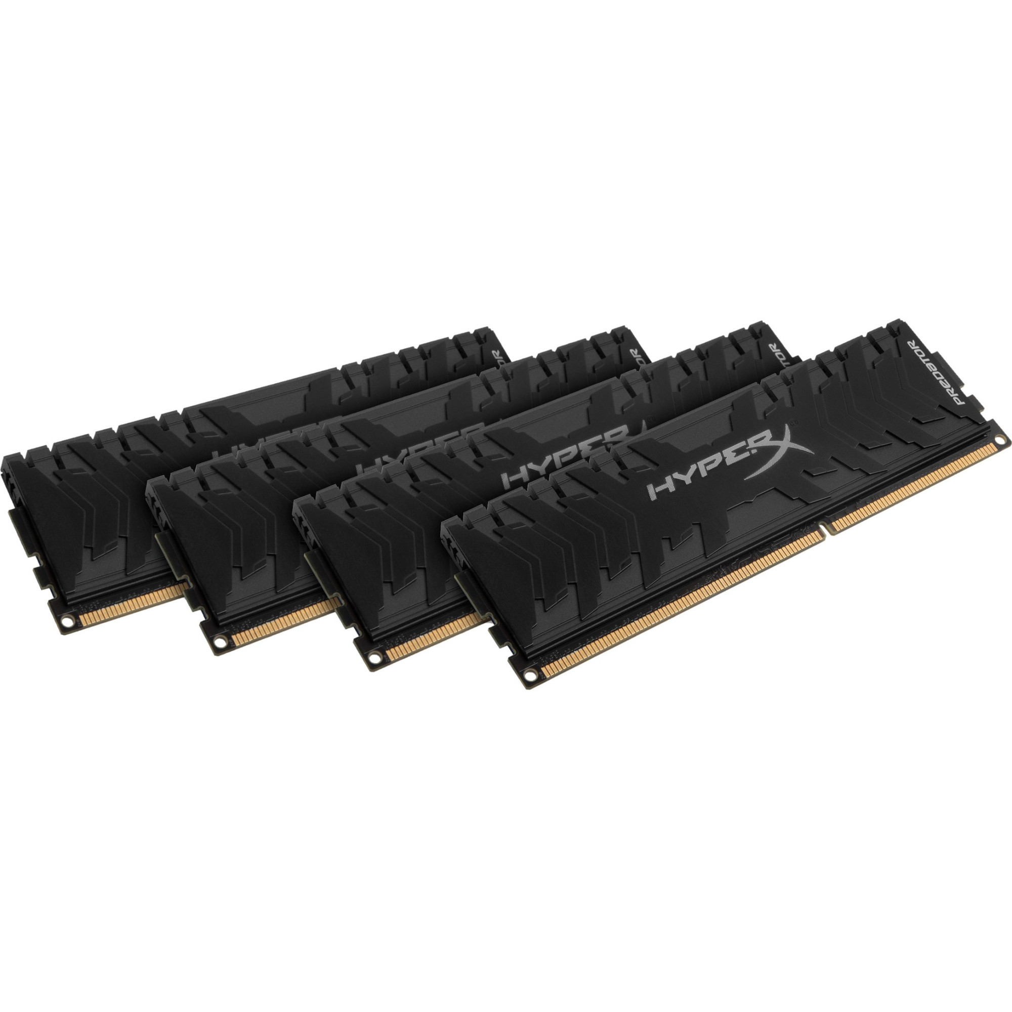 Kingston Predator Memory Black - 32GB Kit (4x8GB) - DDR3 1866MHz CL9 DIMM - 32 GB (4 x 8 GB) - DDR3 SDRAM - 1866 MHz D