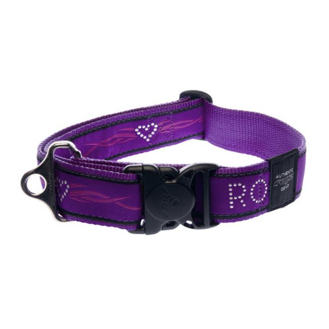 Rogz HB04-BJ Dogz Fancydress Side Release Collar Special Agent - Extra Large, Purple Chrome
