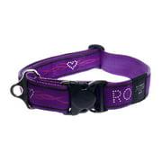 Rogz HB04-BJ Dogz Fancydress Side Release Collar Special Agent - Extra Large, Purple Chrome