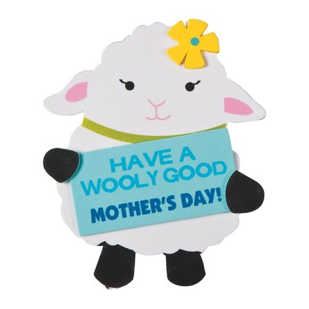 Fun Express - Wooly Good Mother's Day Magnet CK-12 for Mother's Day - Craft Kits - Stationary Craft Kits - Magnet - Mother's Day - 12 (Crafts For Mother's Day)