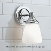 """Norwell Lighting 9621 Maison 10"""" Tall Single Light Bathroom Sconce with White Gl"""