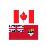 Canada & Canada 1922 Flag Set (2-Pack) (3 by 5 feet)