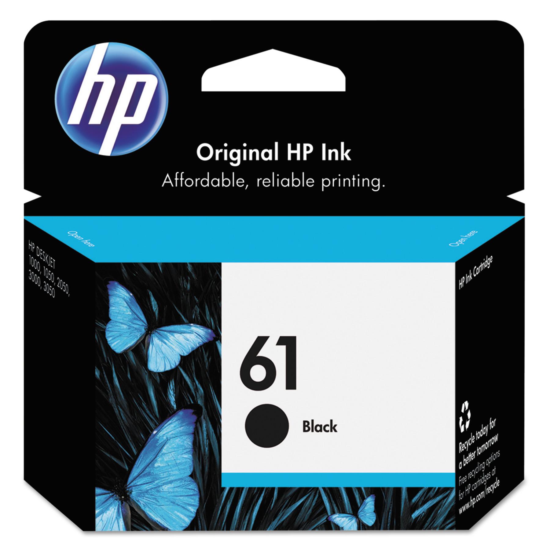 HP 61, (CH561WN) Black Original Ink Cartridge -HEWCH561WN