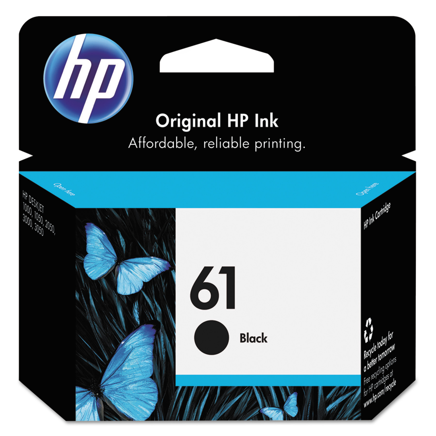 HP 61, (CH561WN) Black Original Ink Cartridge -HEWCH561WN