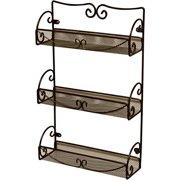 Deco Brothers Decobros 3 Tier Wall Mounted Spice Rack, Bronze