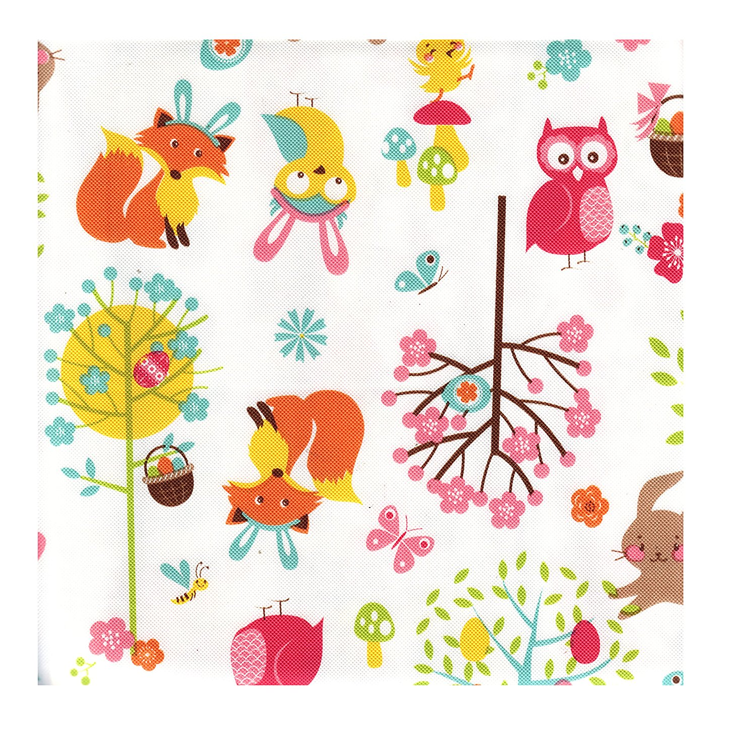 Incroyable Easter Woodland Friends Peva Vinyl Tablecloth 60 X 84 Oblong / Oval