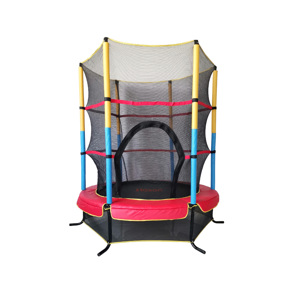 """55/"""" Kids Round Mini Trampoline Exercise Jumping Safety Pad Enclosure Indoor Net"""