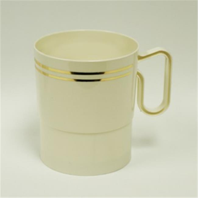 Maryland Plastics Regal CASE-R40008GLD 8 oz. Coffee Plastic Mugs With Gold foil, Ivory,... by Maryland Plastics Inc.