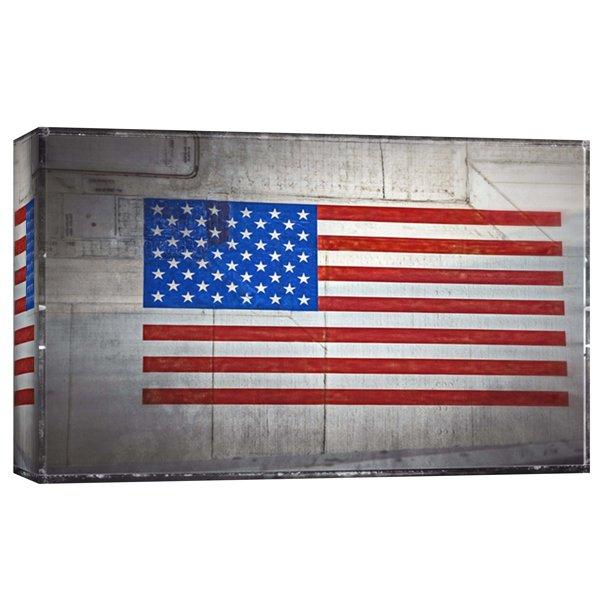 Ptm Images American Flag On Vintage Aircraft 20x16 Decorative Canvas Wall Art Walmart Com Walmart Com