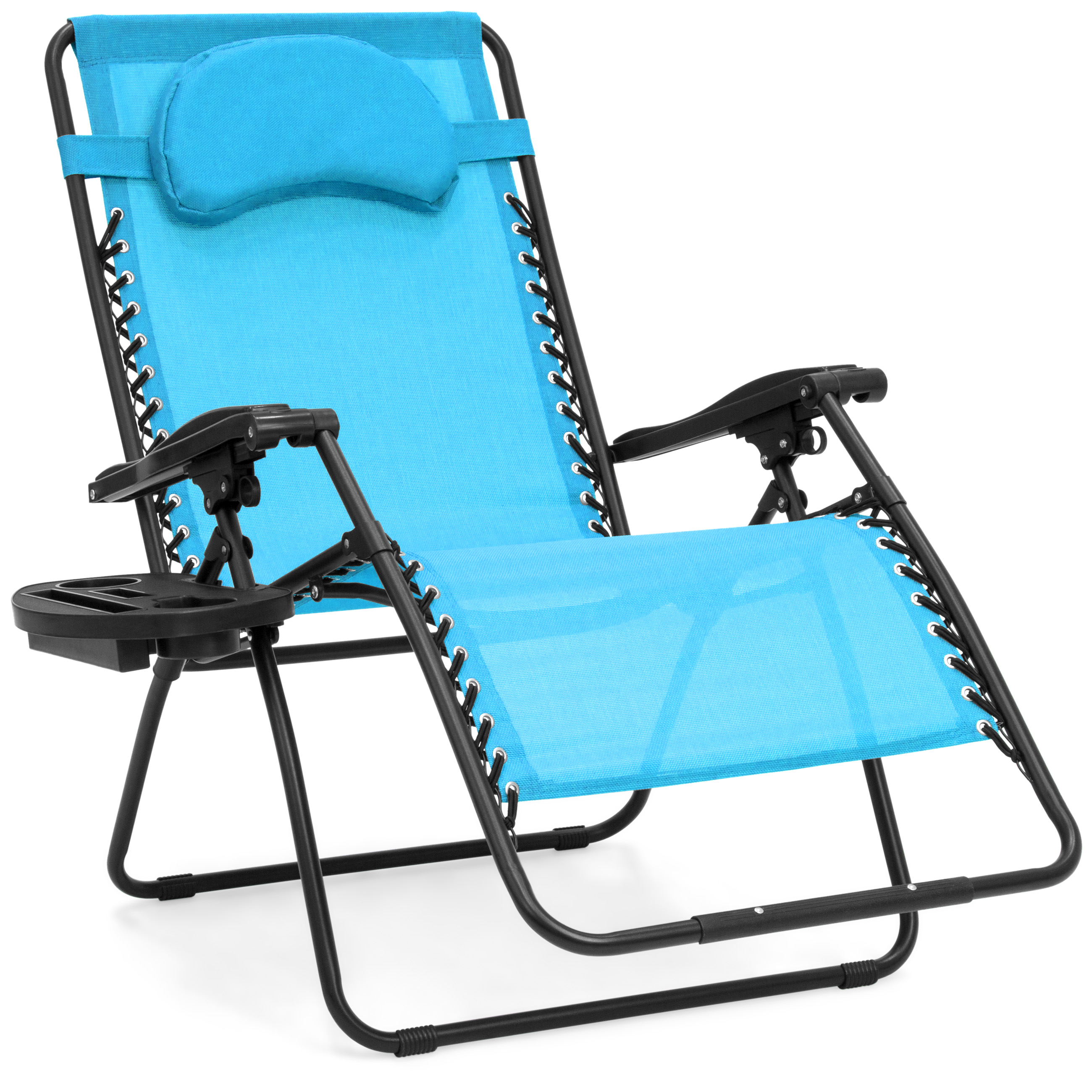 BCP Oversize Zero Gravity Outdoor Reclining Lounge Patio Chairs w/ Cup Holder
