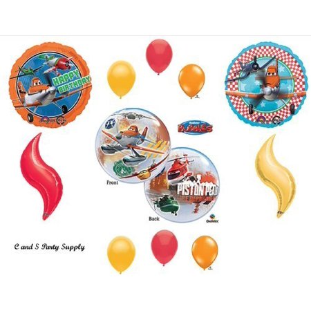 PLANES: FIRE AND RESCUE Disney Movie BIRTHDAY PARTY Balloons Decorations Supplies Airplane by Anagram (Fire Party Supplies)