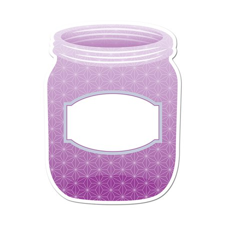 PURPLE MASON JAR 6IN DESIGNER CUT OUTS - PAINT for $<!---->