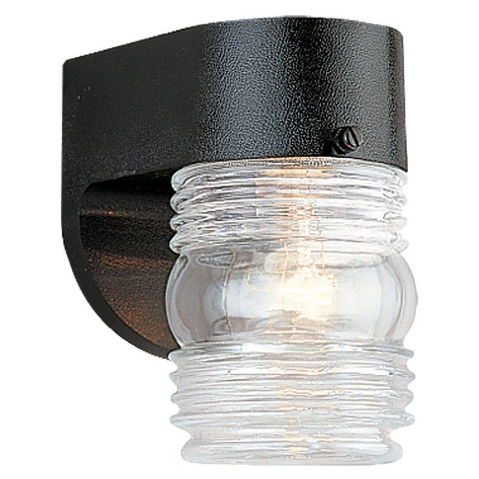 Sea Gull Outdoor Wall Light - 6H in. Black