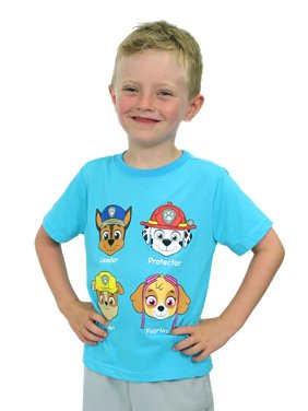 Paw Patrol Boys Girls Toddler Short Sleeve Tee T-Shirt 7NW6354X