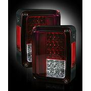 Jeep 07-14 JK Wrangler LED Taillights - Red Lens
