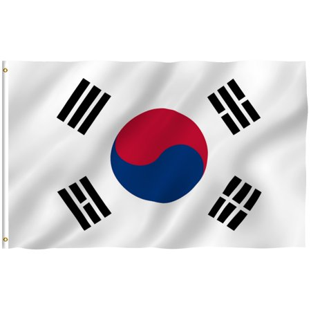 Samoa National Flag (ANLEY [Fly Breeze] 3x5 Foot South Korea Flag - Vivid Color and UV Fade Resistant - Canvas Header and Double Stitched - S Korean National Flags Polyester with Brass Grommets)