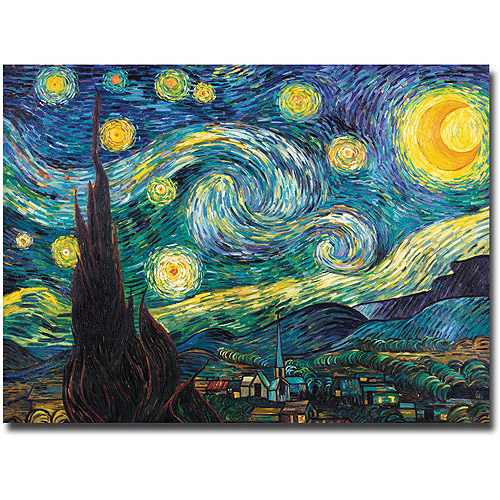 "Trademark Fine Art ""Starry Night"" Canvas Art by Vincent van Gogh"