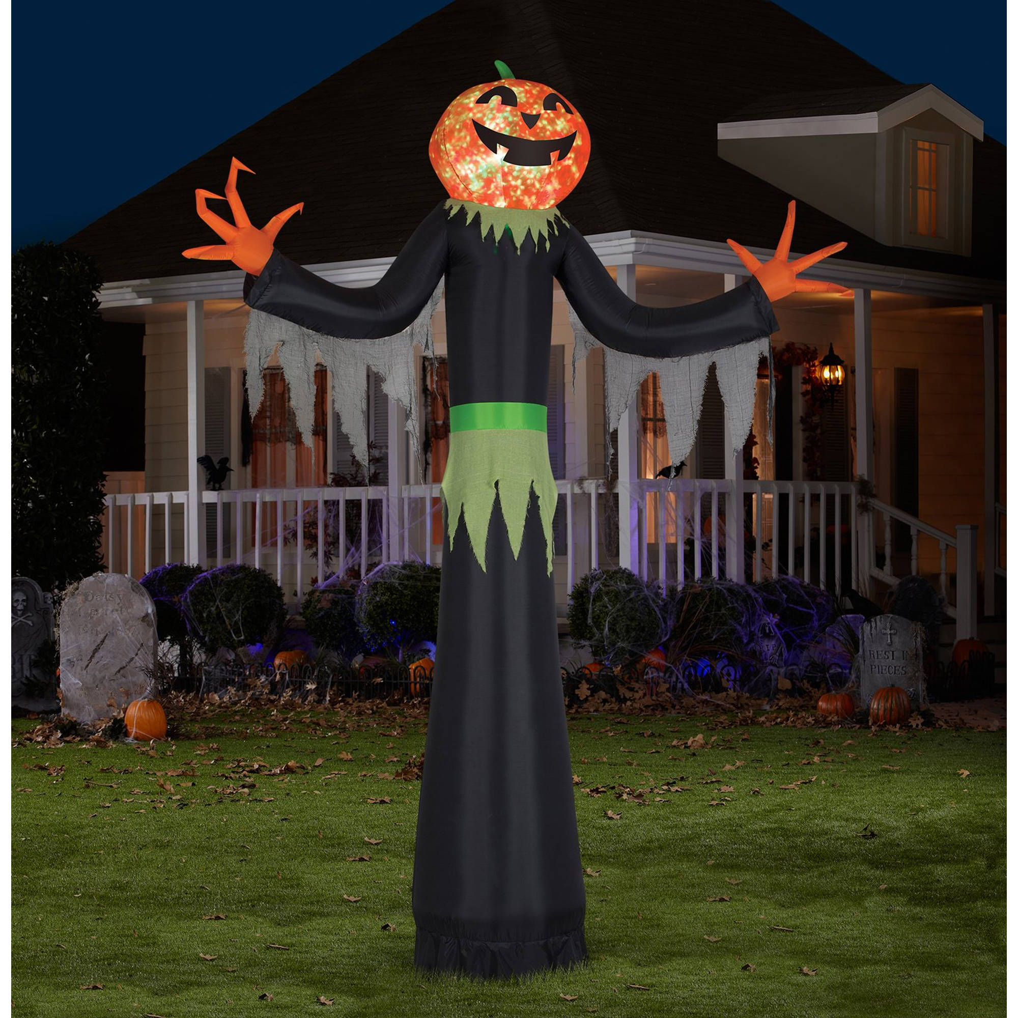 Halloween Outdoor Yard Decorations: Gemmy Airblown Inflatable 6' X 4' Ghost Trio Halloween