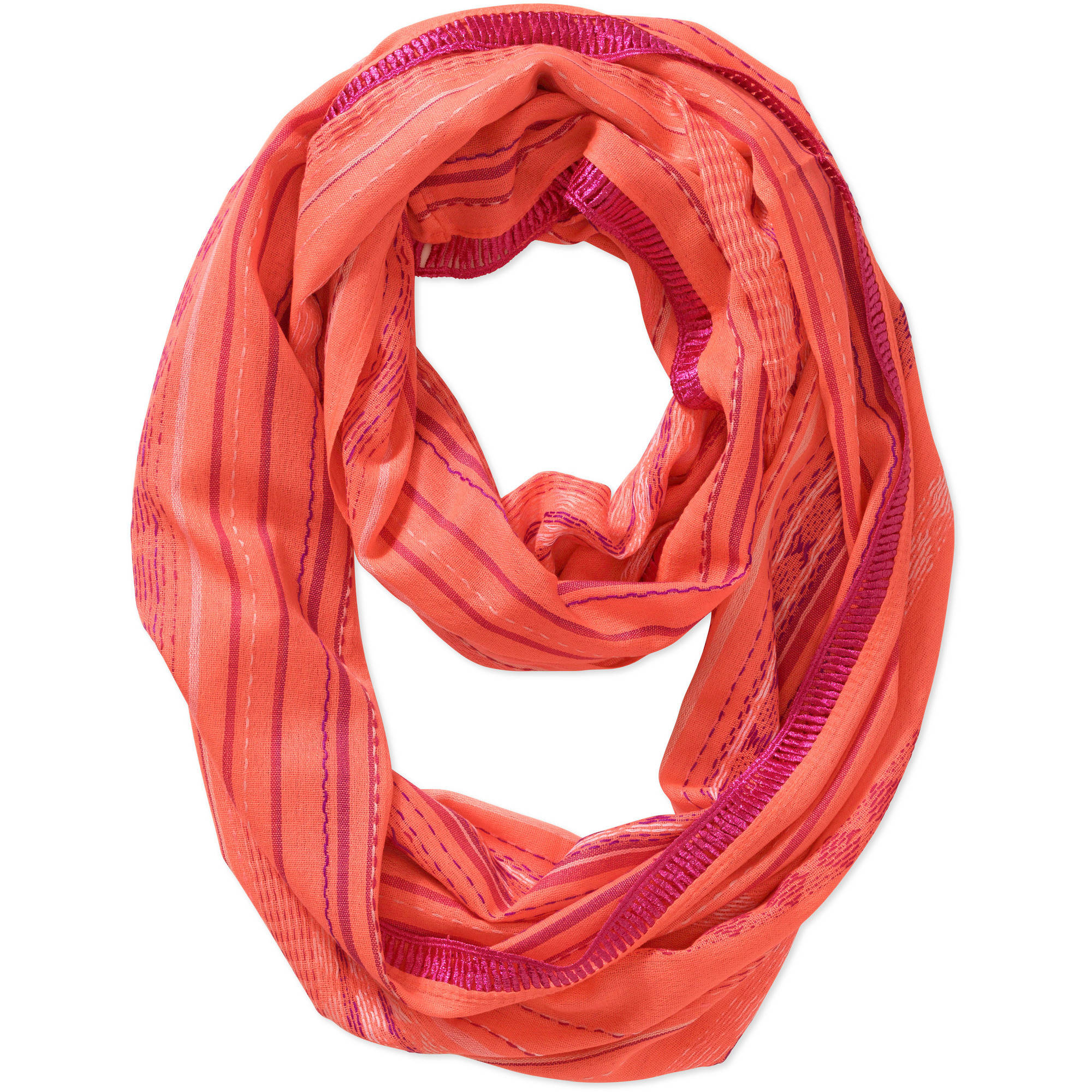 No Boundaries Women's Stripe Fashion Scarf