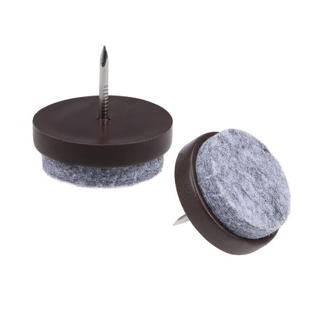 Nail On Furniture Felt Pads Glide Chair Table Leg Protector 28mm Dia Brown 26pcs - image 5 of 5