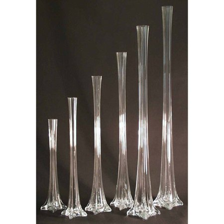 Tall Eiffel Tower Glass Vase Centerpiece 12 Inch Clear Walmart