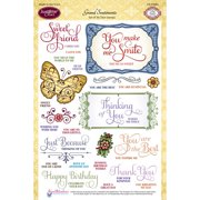"""JustRite Papercraft Clear Stamps 6""""X8""""-Grand Sentiments"""