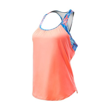 Tyr Two Piece (Women's Emerald Lake 2 in 1 Tankini Coral/Blue XS, By TYR)