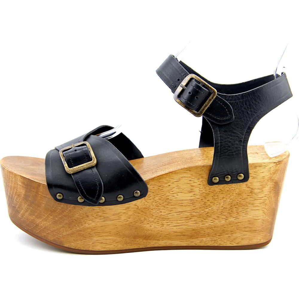 Kelsi Dagger Wen  Platform  Open Toe Leather  Platform  Sandal 8540ad