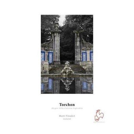"Hahnemuhle Torchon, Matte Rough Texture 285 g/mA 100 % TCF pulp, Bright White, Watercolour Inkjet Paper, 8.5x11"", 25 Sheets"