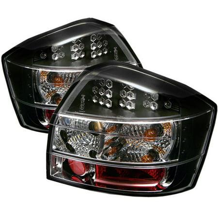 Fits 02-05 Audi A4 S4 4Dr Sedan Turbo Quattro Base JDM Black LED Tail Lights - 4dr Black Led