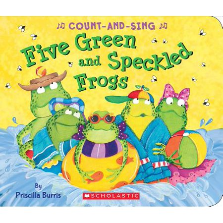 5 Green and Speckled Frogs (Board Book)