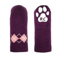 Argyle PAWKS Dog Socks - Grape - XX-Small