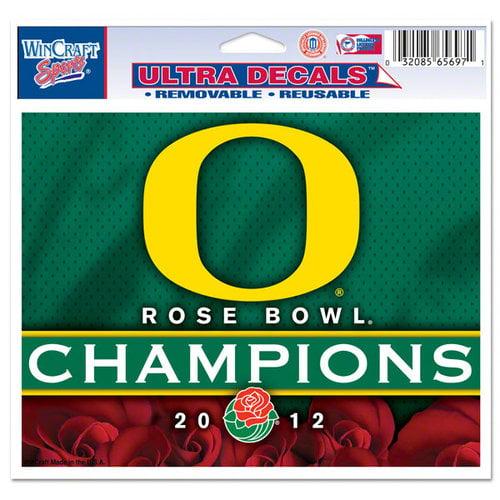 NCAA - Oregon Ducks 2012 Rose Bowl Champions 4.5x6 Cling Decal