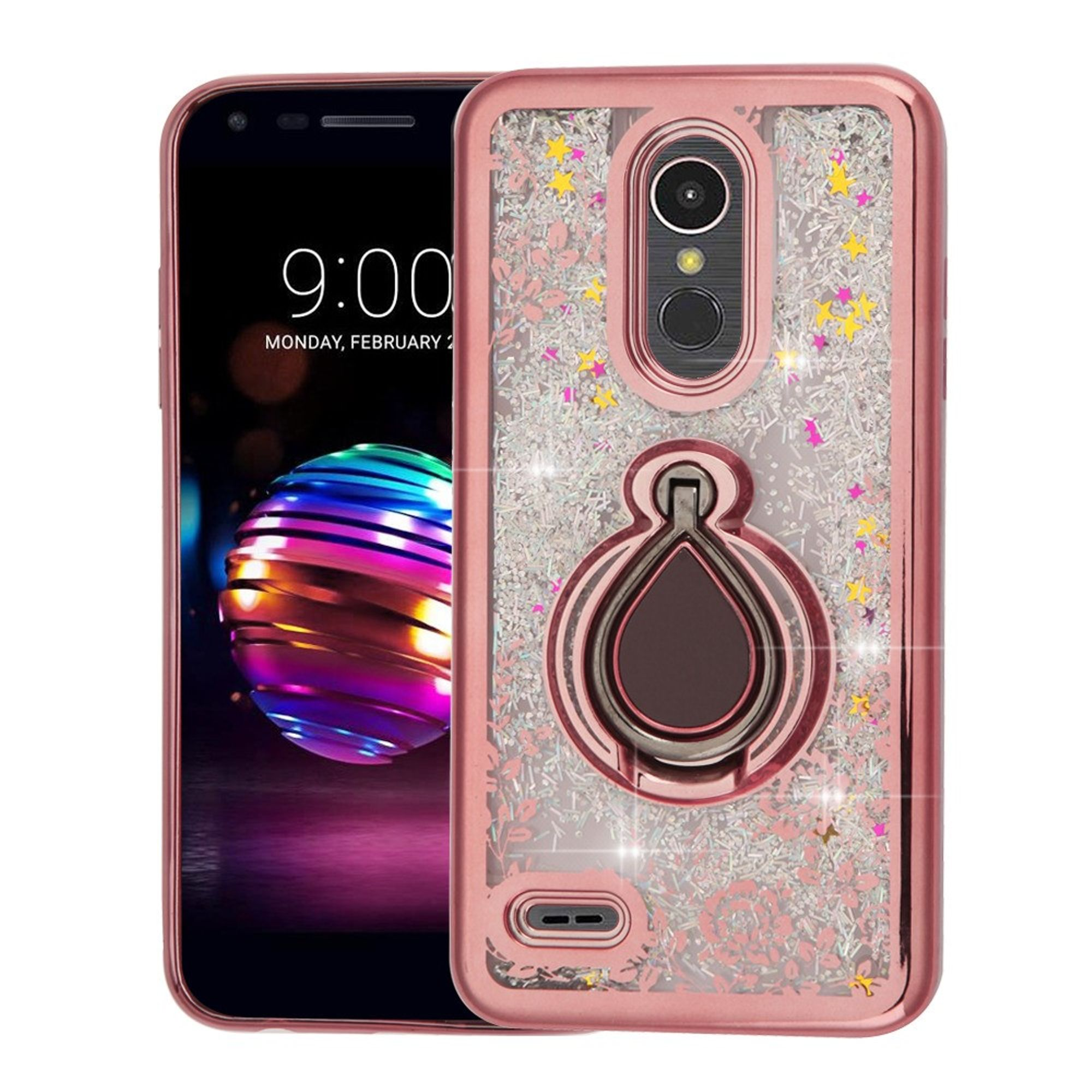 LG K30 case by Insten Luxury Quicksand Glitter Liquid Floating Sparkle Bling Fashion Phone Case Cover for LG K30
