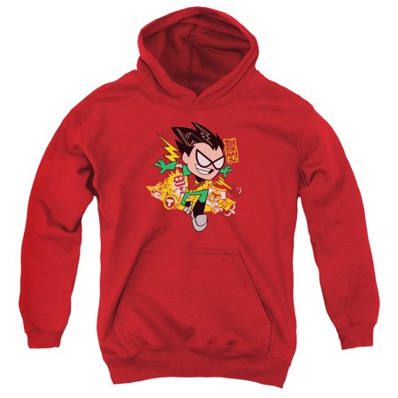 Teen Titans Go Robin Big Boys Pullover Hoodie