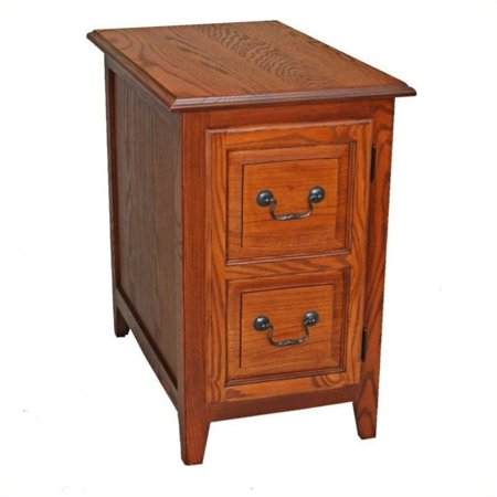Bowery Hill Shaker Cabinet End Table in Medium Oak