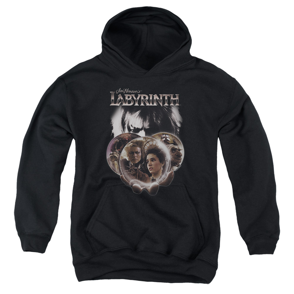 Labyrinth Globes Big Boys Pullover Hoodie