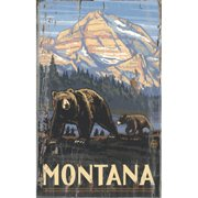 ArteHouse 0003-0519 Family of Bears Planked Wood 14 x 23 Sign
