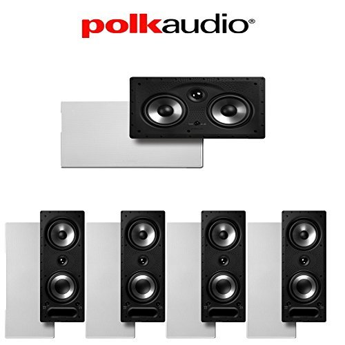 Polk Audio 265-RT + Polk Audio 255C-RT 5.0 Vanishing Series In-Wall Home Theater Speaker Package by Polk Audio