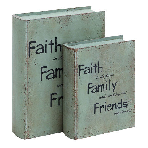 Woodland Imports 9-12H in. Motivational Faith And Family Book Box Set