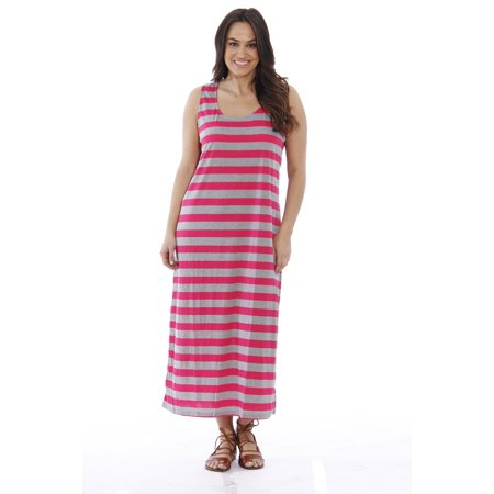 Plus Size Summer Dresses / Maxi Dress (Coral / Heather, 1X, Sundress)