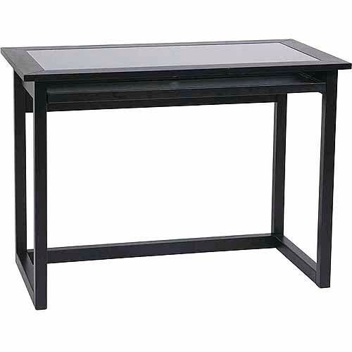 "Office Star No-Tools Assembly 42"" Meridian Computer Desk, Ebony"