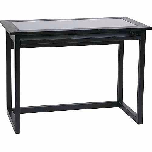 "Office Star No-Tools Assembly 42"" Meridian Computer Desk, Ebony"