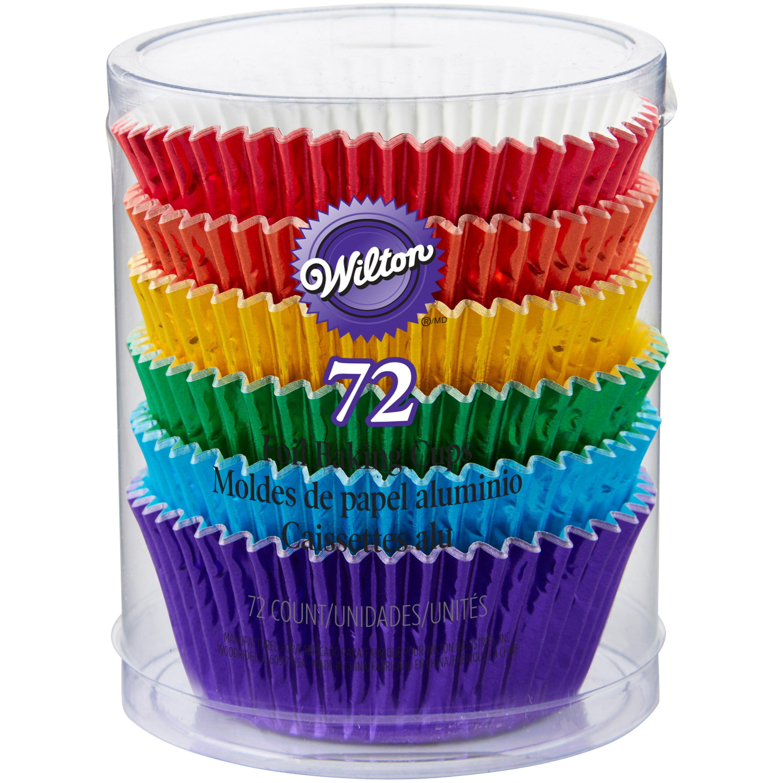 Wilton Cupcake Liners, Rainbow, 72 Ct