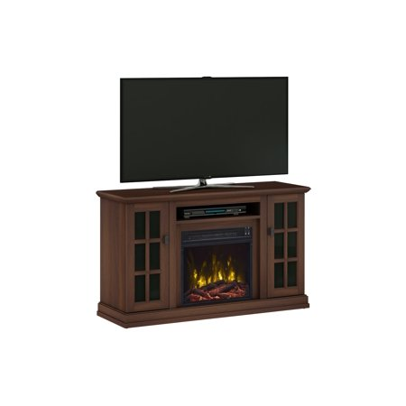 rittenhouse stanton birch tv stand for tvs up to 55 with electric fireplace. Black Bedroom Furniture Sets. Home Design Ideas