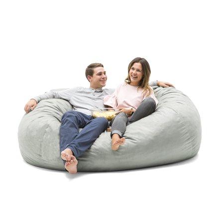 Big Joe XXL 7' Fuf Bean Bag Chair, Multiple Colors/Fabrics