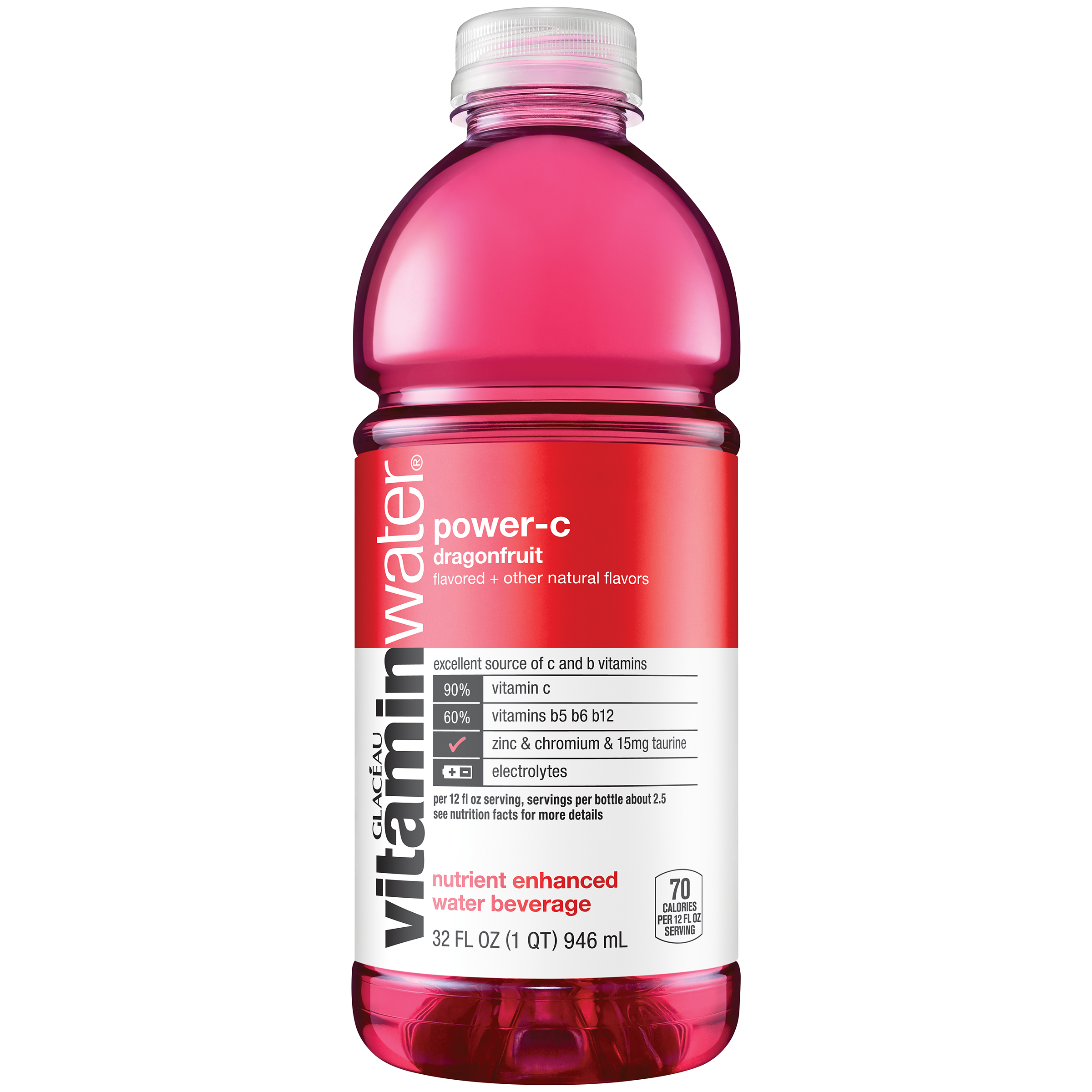 vitaminwater power-c, Dragonfruit, 32 fl oz