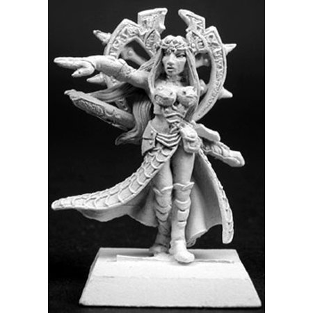 Miniature Witch - Reaper Miniatures Witch Queen, Darkspawn Warlord #14065 Darkspawn Unpainted Mini